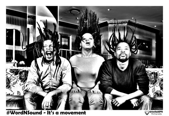 Word N Sound Founders: Afurakan Mohare, Qhakaza Mthembu and Mduduzi Mvemve
